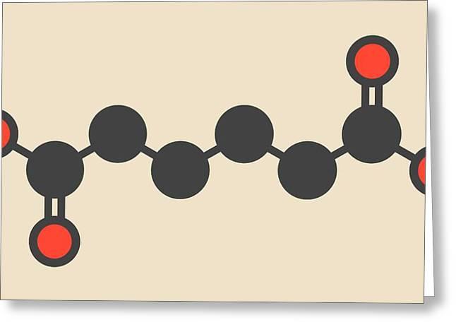 Adipic Acid Nylon Building Block Molecule Greeting Card by Molekuul