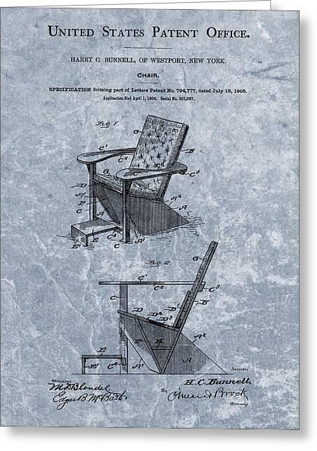 Adirondack Chair Patent Blue Greeting Card