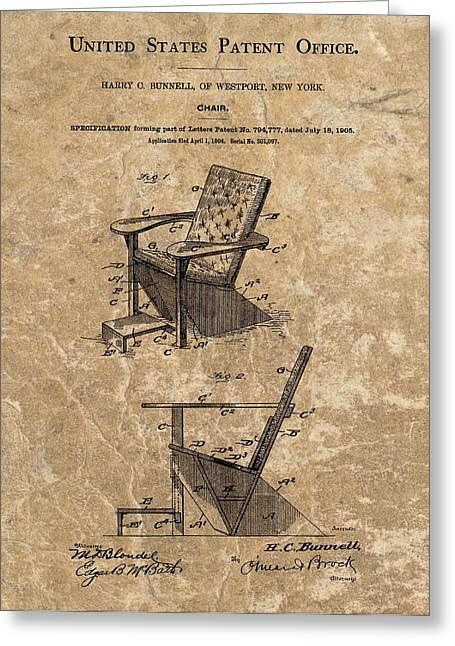 Adirondack Chair Patent Greeting Card