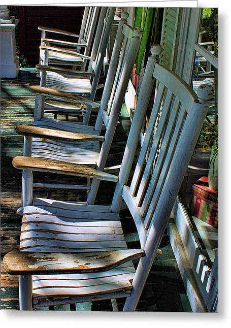Adirondack Chairs Skaneateles Ny Greeting Card