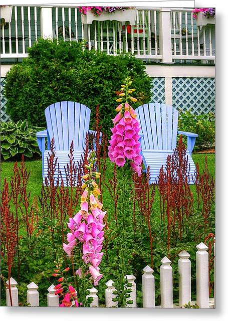 Adirondack Garden Greeting Card