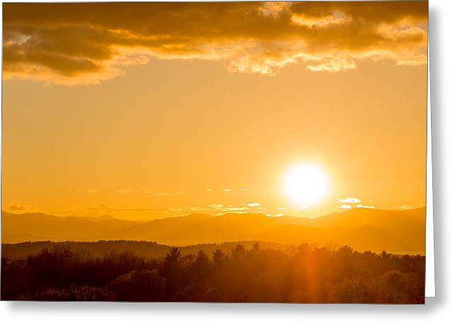 Adirondack Sunset Greeting Card