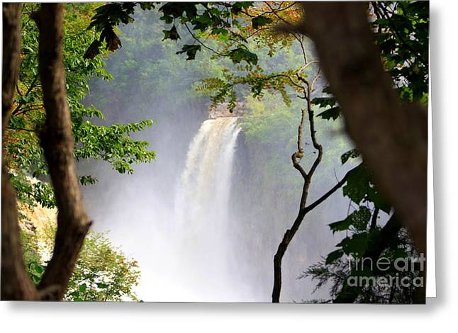 Greeting Card featuring the photograph Adirondacks Waterfall by Patti Whitten