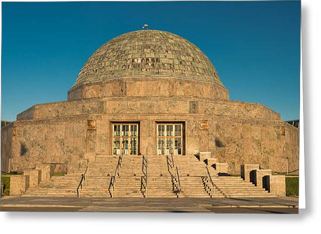 Adler Planetarium Chicago Il Greeting Card by Steve Gadomski