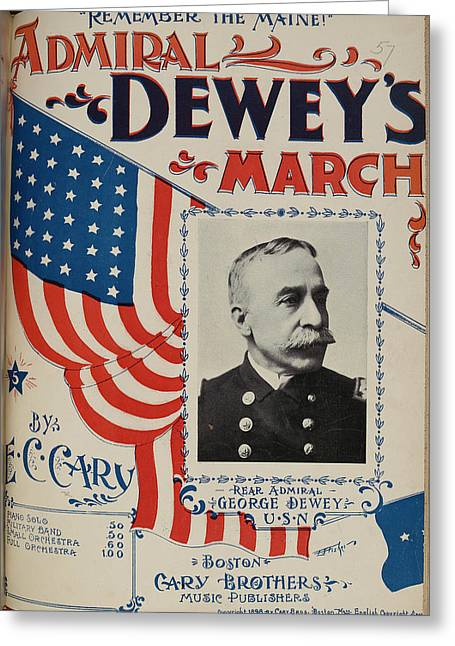 Admiral Dewey's March Greeting Card by British Library