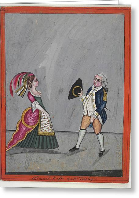 Admiral Hughes And Mrs. Oakeley Greeting Card by British Library