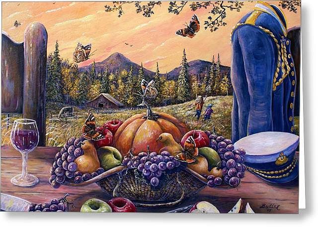 Admirals Harvest Greeting Card