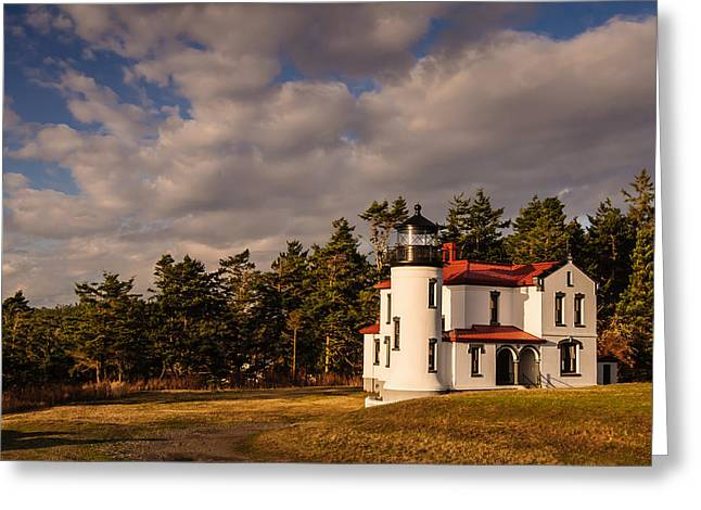 Admiralty Head Lighthouse Greeting Card by Dan Mihai