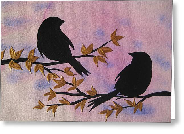Admiring From Afar Greeting Card by Cathy Jacobs
