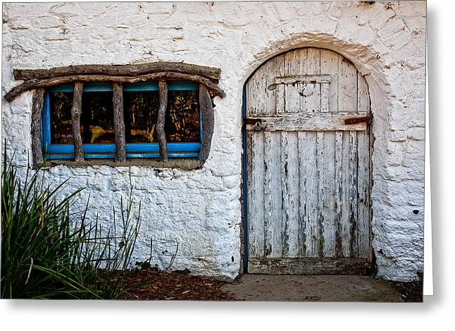 Adobe Door And Window Greeting Card by Peter Tellone