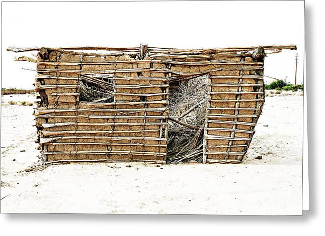 Greeting Card featuring the photograph Adobe Shack 1 by Lin Haring