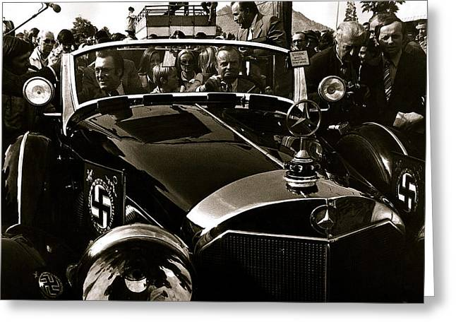 Adolf Hitler's 1941 Mercedes-benz 770-k Touring Car Sold At Auction Scottsdale Arizona 1973 Greeting Card