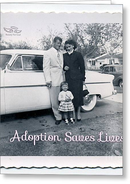 Adoption Saves Lives Greeting Card