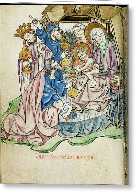 Adoration Of The Magi Greeting Card by British Library