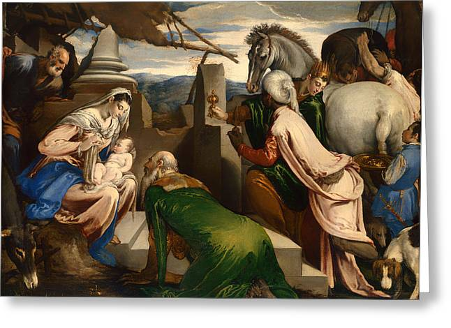 Adoration Of The Magi  Greeting Card by Mountain Dreams