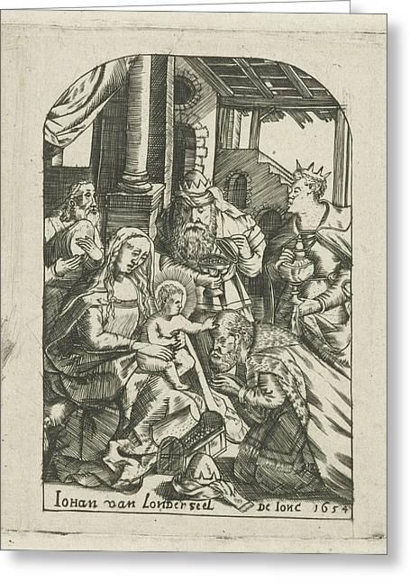 Adoration Of The Magi, Johannes Van Londerseel II Greeting Card