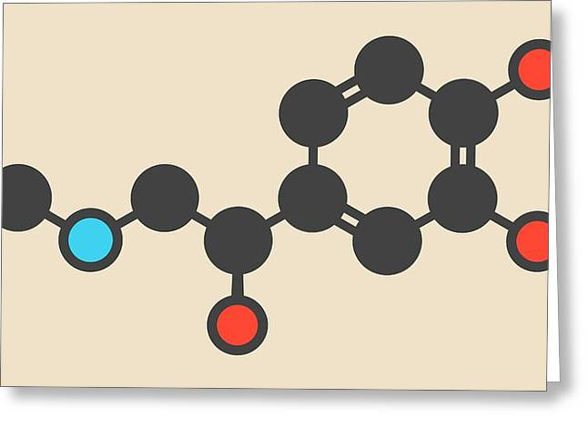 Adrenaline Molecule Greeting Card by Molekuul