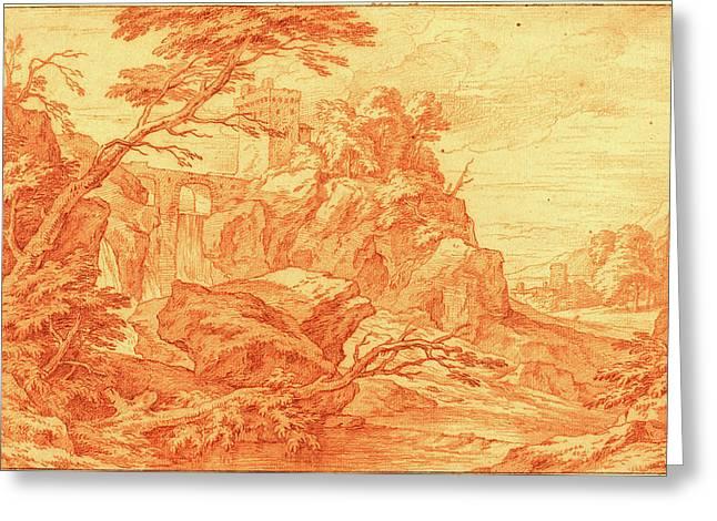 Adriaen Frans Boudewyns, Flemish 1644-1711 Greeting Card