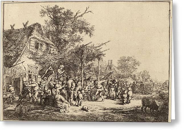 Adriaen Van Ostade Dutch, 1610 - 1685, Dance Greeting Card