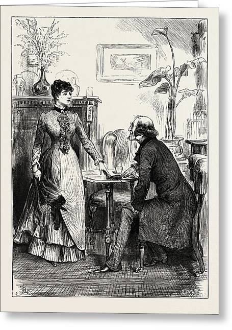 Adrian Vidal, Dont You Think Greeting Card by Frederick (fred) Barnard (1846 ? 1896), English