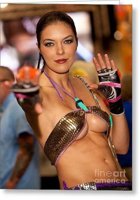 Adrianne Curry As Christie Monteiro Of Tekken  Greeting Card by Andreas Schneider