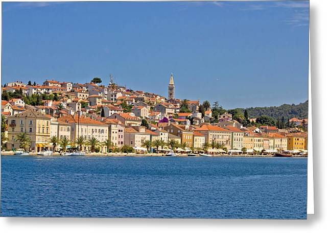 Adriatic Town Of Mali Losinj View From Sea Greeting Card
