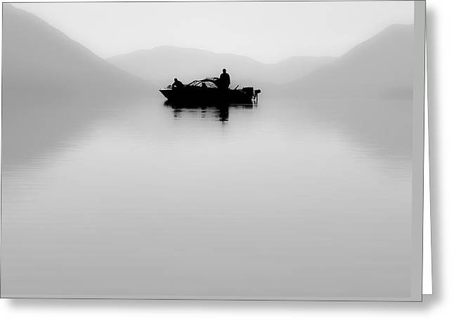 Greeting Card featuring the photograph Adrift by Aaron Aldrich