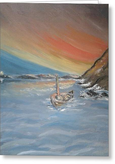 Greeting Card featuring the painting Adrift by Teresa White