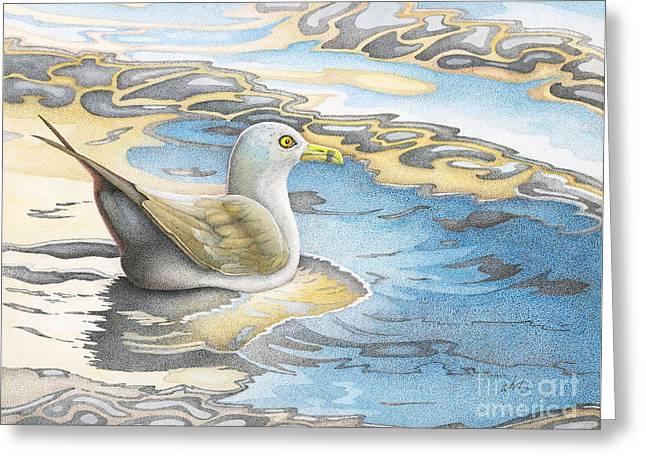 Adrift Greeting Card by Wayne Hardee