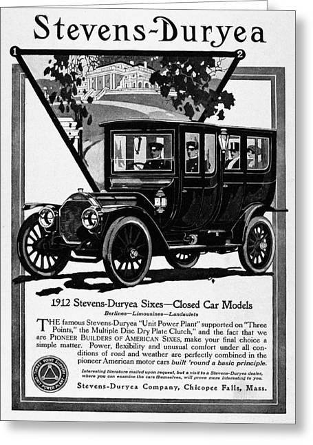 Ads Automobile, 1912 Greeting Card by Granger