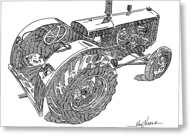 Advance Rumely Greeting Card by Ken Nickle