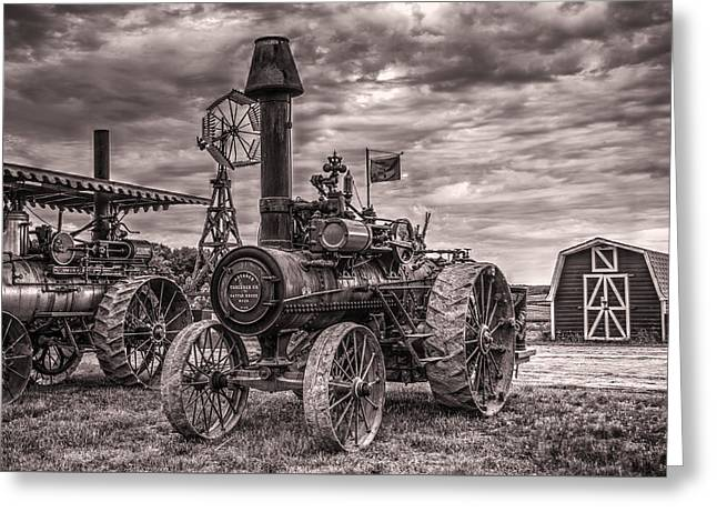 Advance Steam Traction Engine Greeting Card