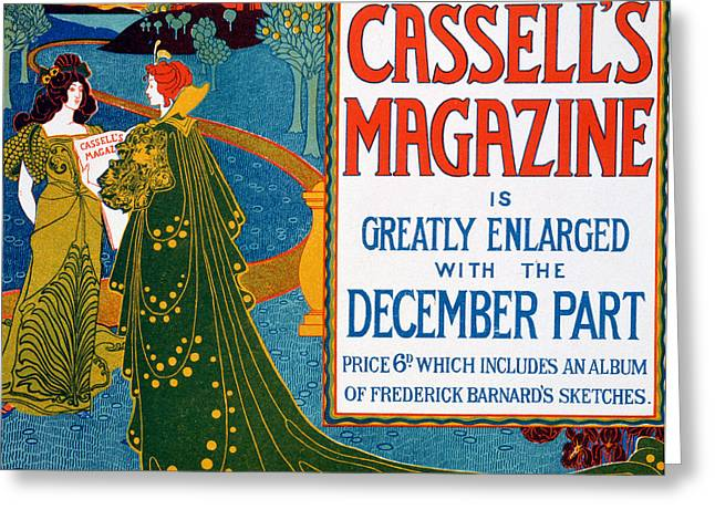 Advertisement For Cassells Magazine Greeting Card by Louis John Rhead