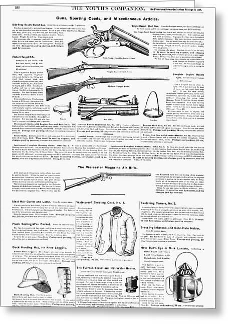 Advertisement Guns, 1890 Greeting Card
