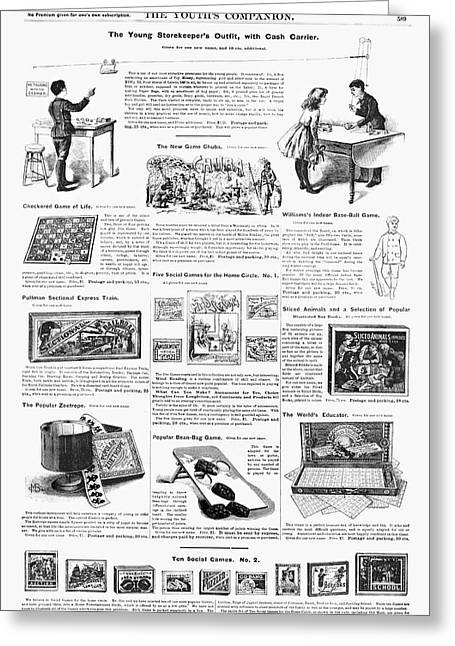 Advertisement Toys, 1890 Greeting Card by Granger