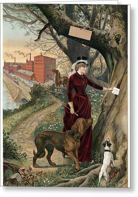 Advertising Poster, C1886 Greeting Card by Granger