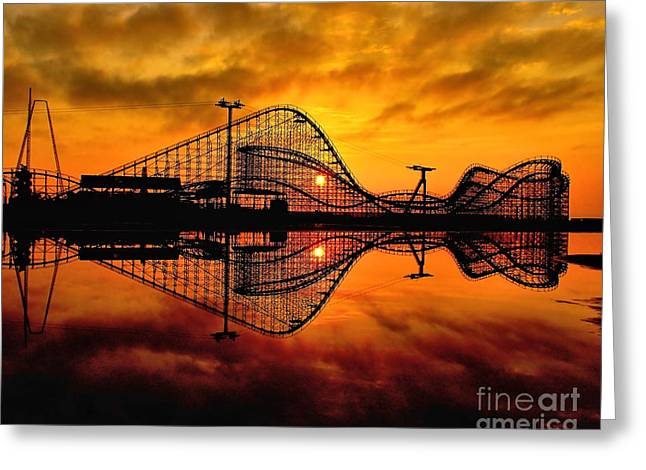 Adventure Pier At Sunrise Greeting Card