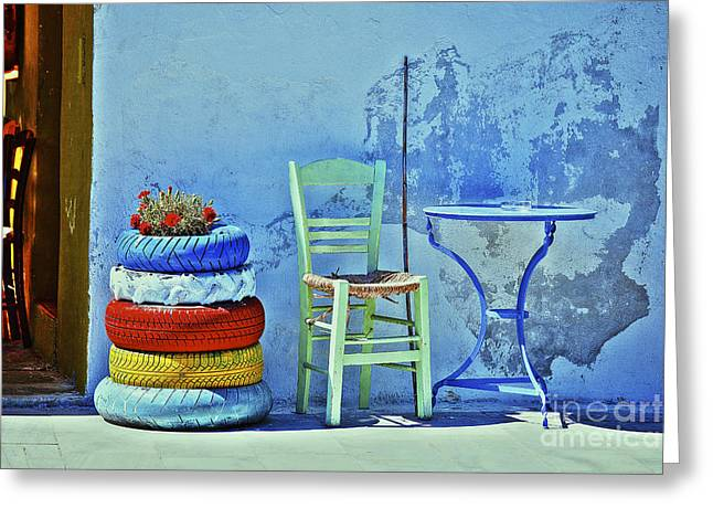 Aegean Colours Greeting Card