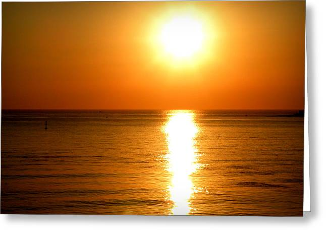 Greeting Card featuring the photograph Aegean Sunset by Micki Findlay