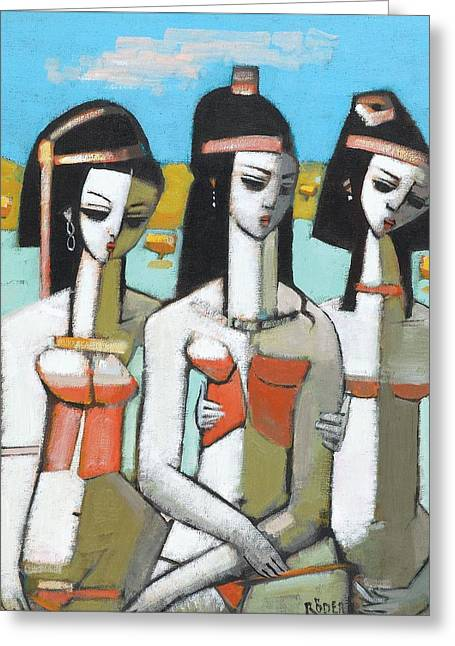 Aegeans Oil On Canvas Greeting Card