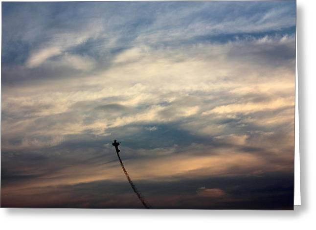 Aerial Acrobat Greeting Card by Gerry Bates
