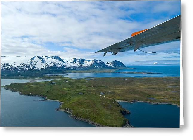 Aerial Alaska Greeting Card