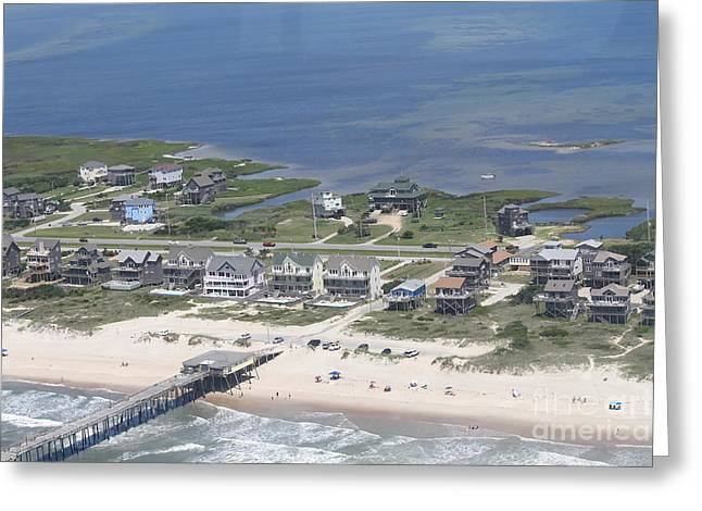 Aerial Frisco Pier 2 Greeting Card by Cathy Lindsey