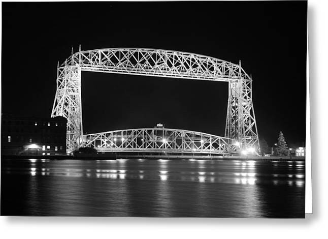 Aerial Lift Bridge Duluth Minnesota Greeting Card