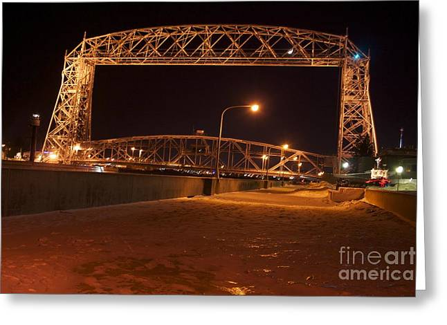 Aerial Lift Bridge Greeting Card by Kevin Jack