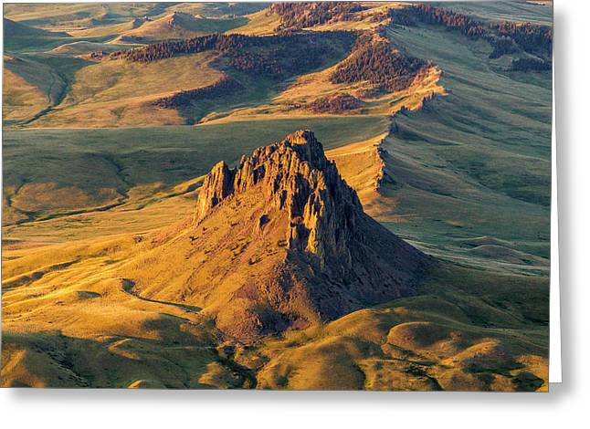 Aerial Of Birdtail Butte In Cascade Greeting Card