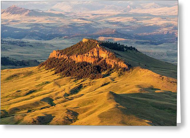 Aerial Of Lionhead Butte In Cascade Greeting Card