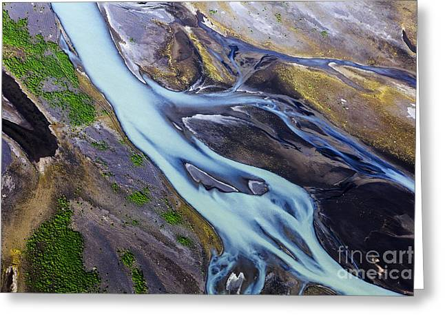 Aerial Photo Of Iceland  Greeting Card