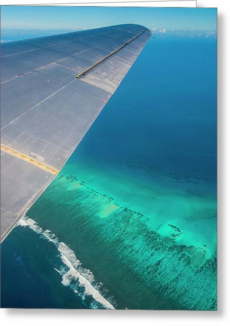 Aerial Photo Of Tonga, South Pacific Greeting Card by Michael Runkel