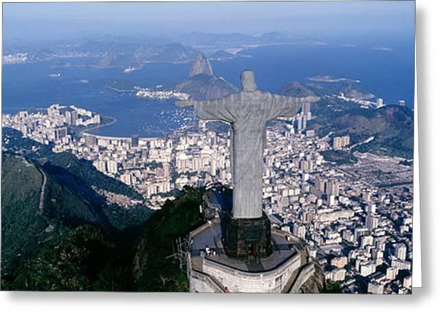Aerial, Rio De Janeiro, Brazil Greeting Card